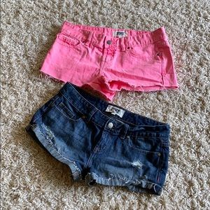 Pink Victoria secret short shorts!!! Size 2!